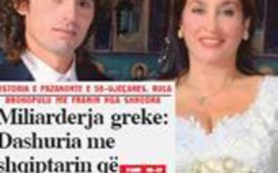 Miliarderja greke: Dashuria ime me shqiptarin