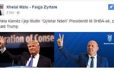 ''Çudira shqiptare'' Donald Trump qytetar nderi i Kamzës