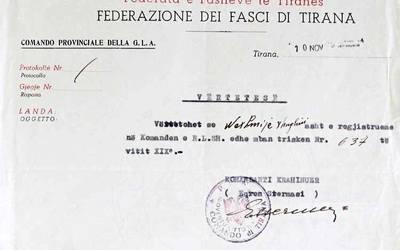 DOKUMENTI/ Kur Nexhmije Hoxha ishte pjesë e Partisë Fashiste